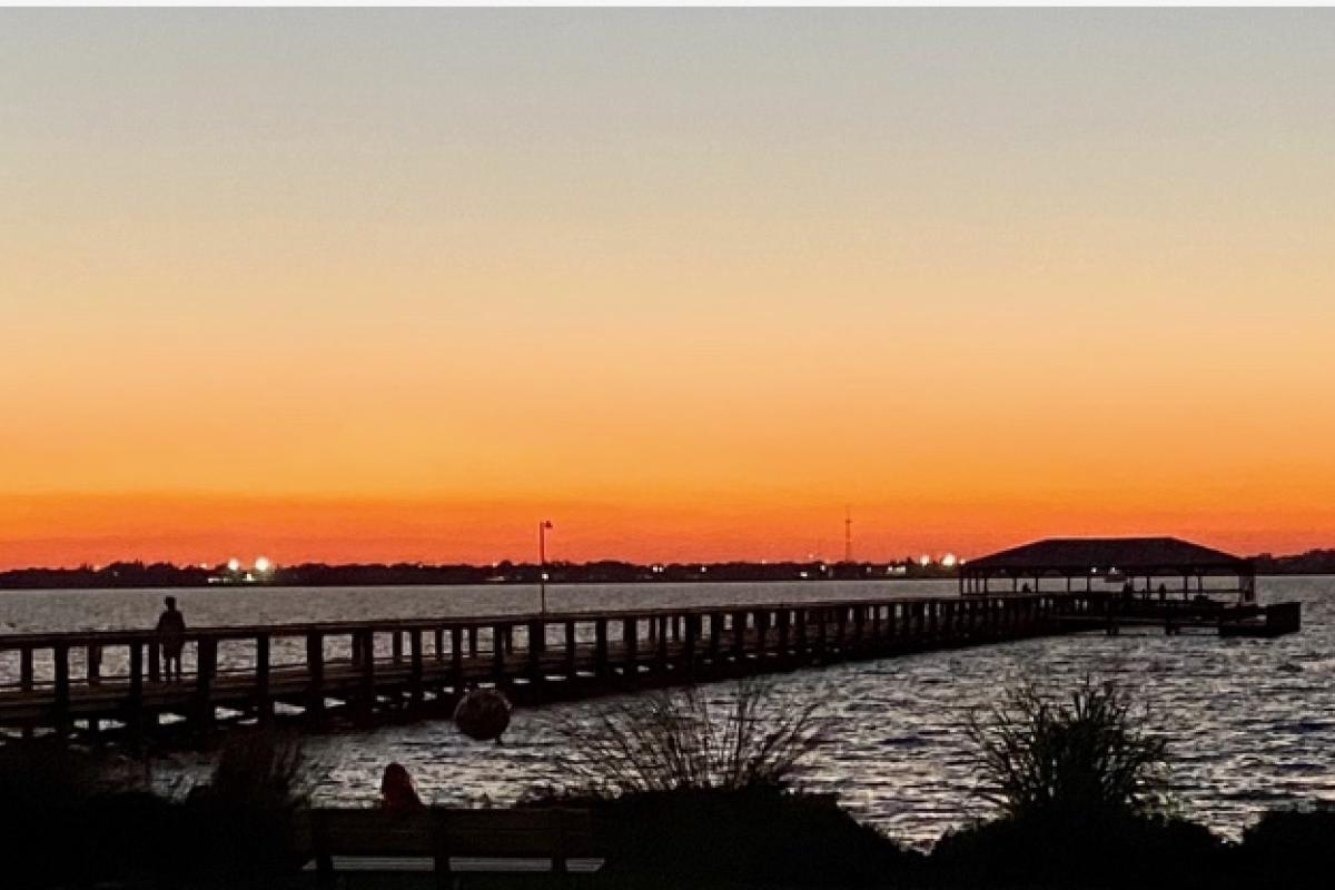 Melbourne Beach Pier at Sunset